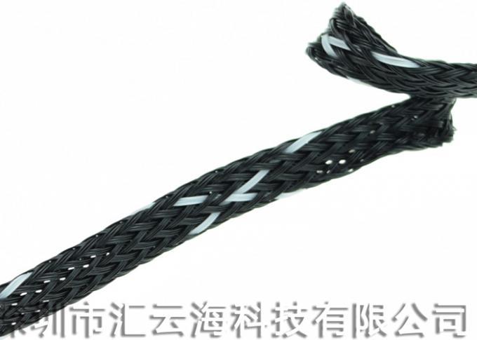 Plastic PET Electrical Braided Sleeving High Tensile