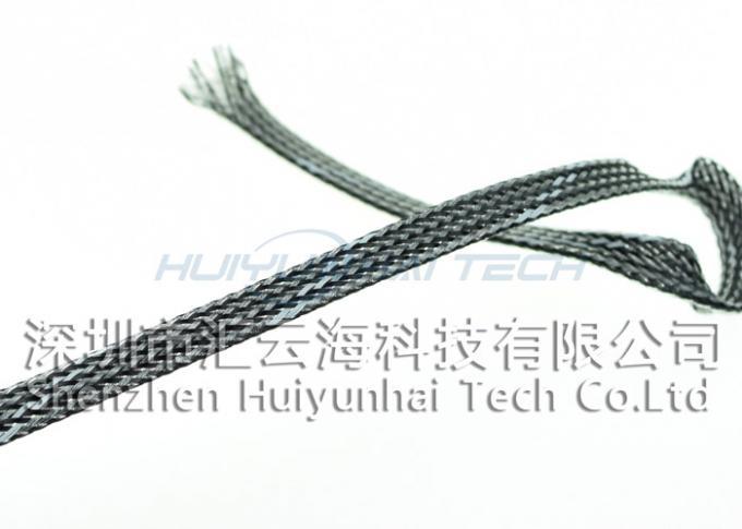 4mm Round High Temp Wire Sleeve , Braided Heat Resistant