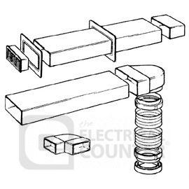 Manrose 7219 125mm Flat Channel Ducting Kit, Terracotta