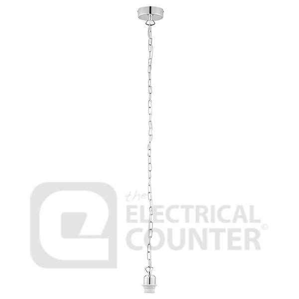 Endon 68833 Chrome Cable Set Chain Ceiling Light 60W 150