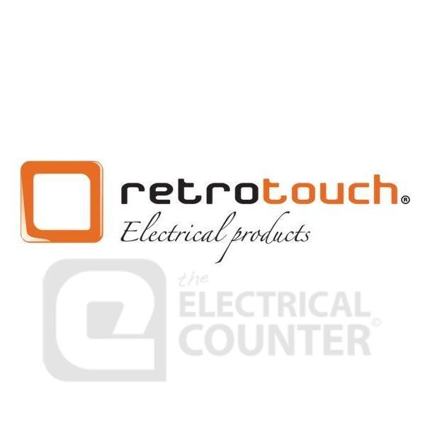 Retrotouch 07350 White 5A Round Pin Plug Socket with