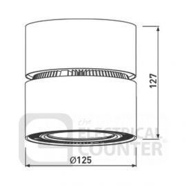 BG Luceco LKT2022 Commercial LED Circular Adjustable