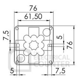 Wiska 10060523 Grey Combi 108/5 Pole Terminal Block
