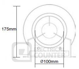 Manrose MAN50TSFK Centrifugal In-Line Extractor Fan 4