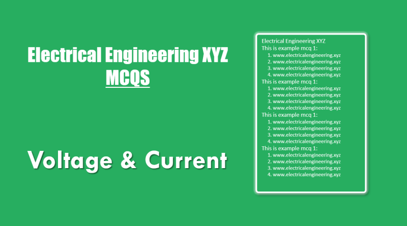 basic-voltage-and-current-mcqs