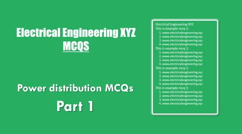 power-distrbution-mcqs-part-1