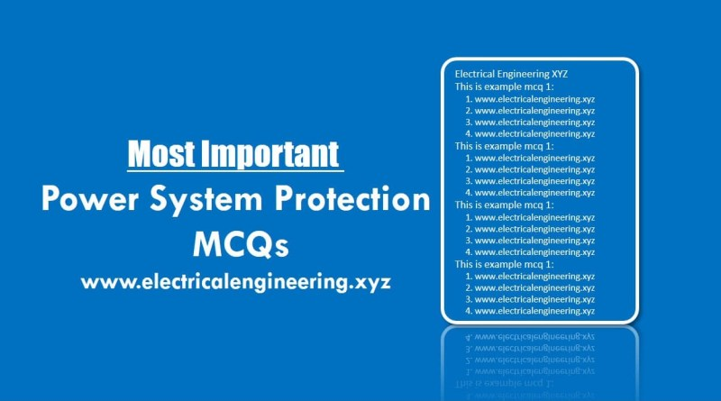 power-system-protection-mcqs