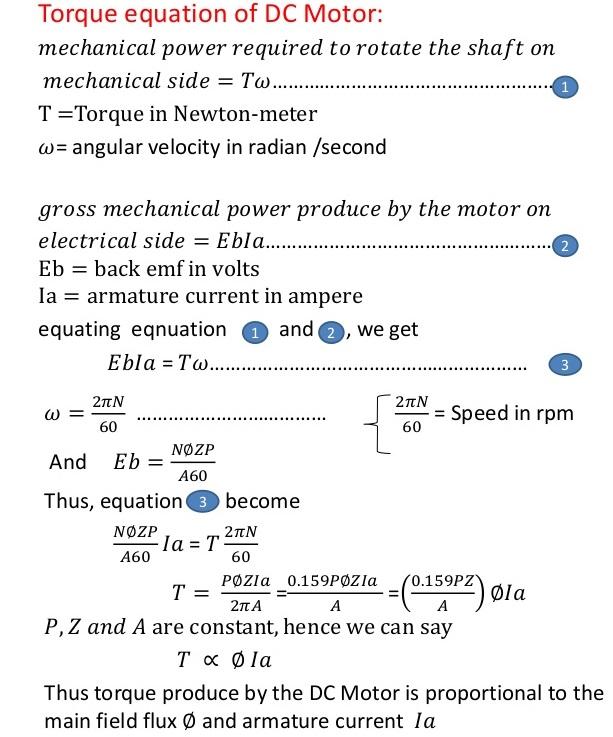 torque-equation-of-dc-motor