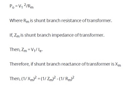 open-circuit-test-equation