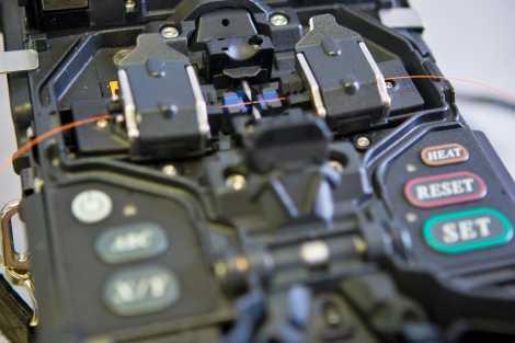 optical fiber splicing process
