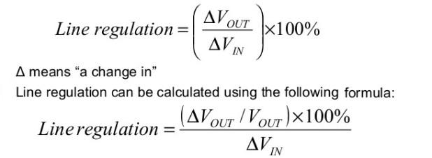line voltage regulator formula