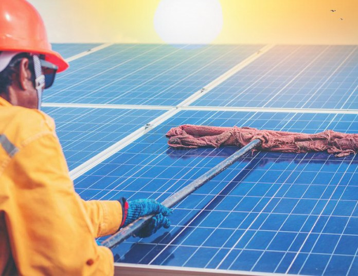 Renewable Energy, Green Power Electricity, Energy Conservation, Sustainable Energy, Environments, Solar power | Automated Solar Panel Cleaning - Electrical India Magazine on Power & Electrical products, Renewable Energy, Transformers, Switchgear & Cables