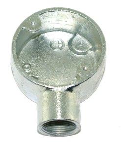 Terminal Metal Conduit Box (Stop End Box) 25mm Galvanised