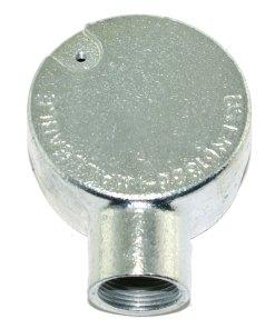 Terminal Metal Conduit Box (Stop End Box) 25mm Galvanised Rear