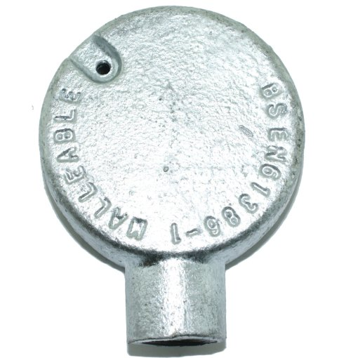 Terminal Metal Conduit Box (Stop End Box) 20mm Galvanised Rear