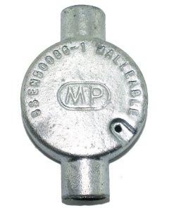Through Metal Conduit Box 20mm Galvanised Rear