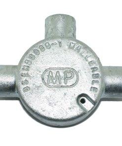 Tee Metal Conduit Box 20mm Galvanised Rear