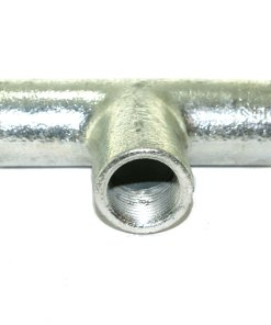 Solid Tee for 20mm Conduit Galvanised 2