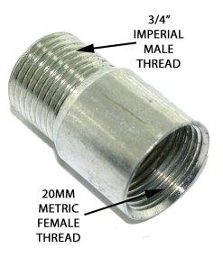 "3/4"" Male to 20mm Female Steel Conduit Adaptor 2"