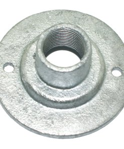 Spouted Dome Conduit Cover 20mm Malleable Iron Galvanised Side