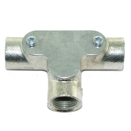 Inspection Tee for 20mm Galvanised Conduit