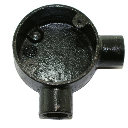 Angle Metal Conduit Box 20mm Black Enamel