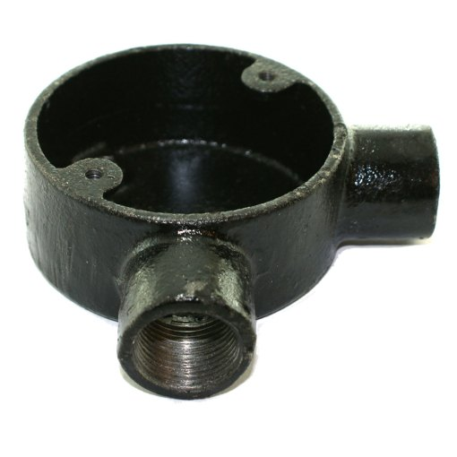 Angle Metal Conduit Box 20mm Black Enamel 2