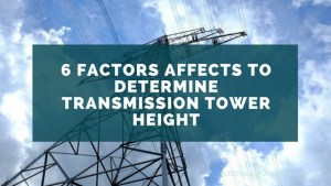 transmission tower height