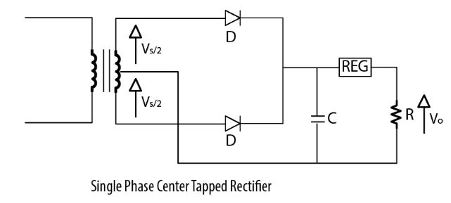 Single phase center tapped