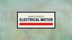 Select Electrical Motor