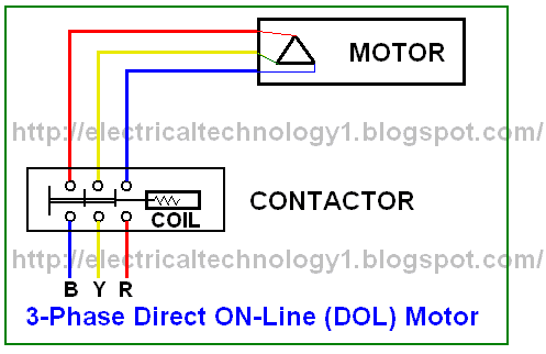 wiring diagram of single phase motor starter winch for atv direct on line schematic and circuit