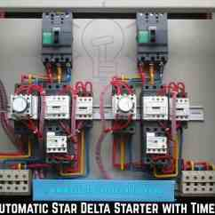 Motor Starter Wiring Diagram 2005 Ford Mustang Engine Circuit 3 Phase Star Delta Y D For Induction Motors With Timerautomatic
