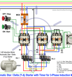 star delta starter y starter power control and wiring connectionwiring diagram of [ 1070 x 936 Pixel ]