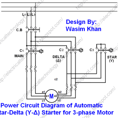 How To Draw A Circuit Diagram Taco 571 2 Zone Valve Wiring Star Delta Starter For 3 Phase Induction Motor Y D Automatic With Timer Power