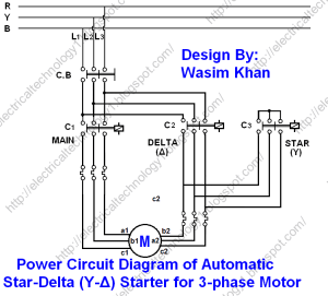 Star Delta Starter  (YΔ) Starter Power, Control and
