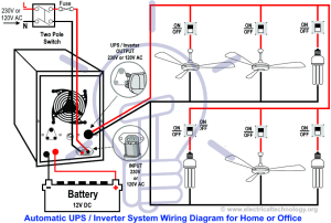 Automatic UPS  Inverter Wiring & Connection Diagram to