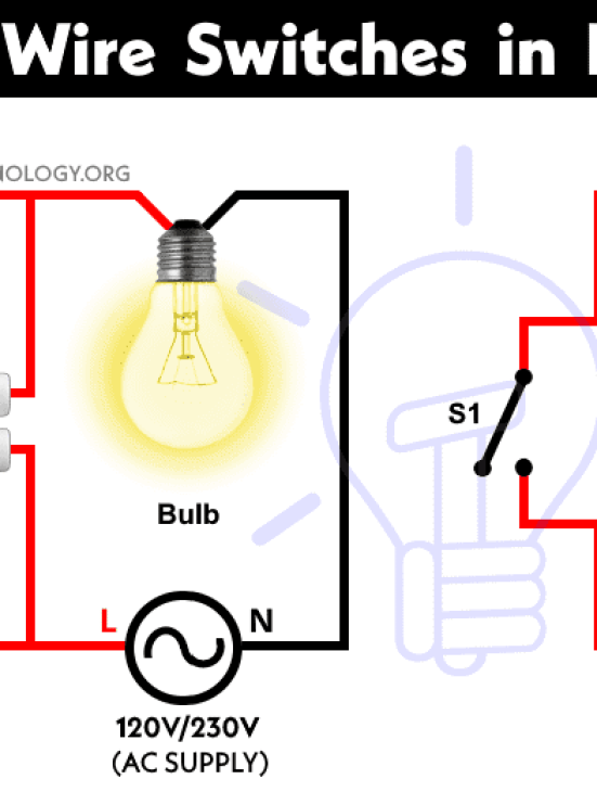 how to wire switches in parallel controlling light from