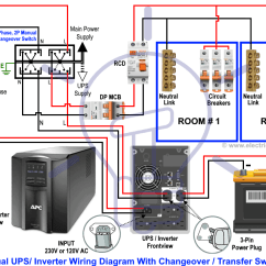 Home Ups Inverter Wiring Diagram Mesophyll Cell Manual Auto With Changeover Switch How To Wire Transfer