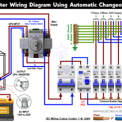 Home Ups Inverter Wiring Diagram 2002 Ford F150 Horn Manual Auto With Changeover Switch How To Wire Automatic