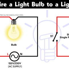 How To Wire A Light And Switch Diagram 2000 Chevy S10 Headlight Wiring Control Bulb By Single Way Or One