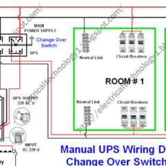 Wiring Diagram Of Refrigeration System Rotork Awt Manual Ups With Change Over Switch
