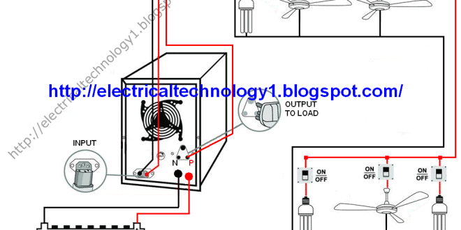 how to connect solar panel inverter diagram lotus blank automatic ups system wiring circuit for home or office