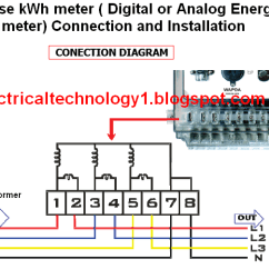 Ge Kilowatt Hour Meter Wiring Diagram Paper Airplane Of Parts How To Wire A 3 Phase Kwh Installation Energy Install Three Or