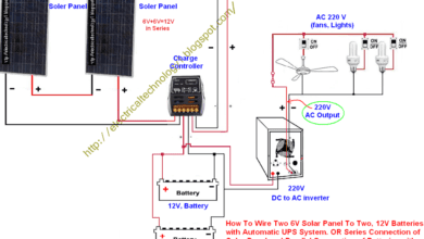 home ups inverter wiring diagram single light switch nz automatic system circuit great installation of connection to the rh electricaltechnology org electrical basic