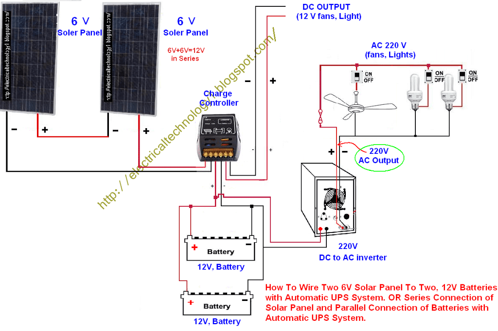 10000 Inverter Wiring Diagram Series Connection Of Solar Panel With Auto Ups System