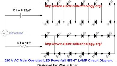 wiring diagram for forward reverse single phase motor equipment how to connect a portable generator the home supply 4 methods 230 v 50hz ac or 110v 60hz main operated led powerful night lamp circuit