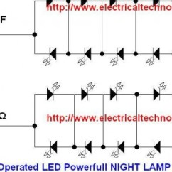 Solar Panel System Wiring Diagram 2000 Saturn Sl2 Stereo 230 V 50hz Ac (or 110v 60hz) Main Operated Led Powerful Night Lamp Circuit Diagram. - Electrical ...