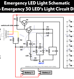 powerful cheep circuit led 716 emergency light schematic diagram [ 1252 x 820 Pixel ]
