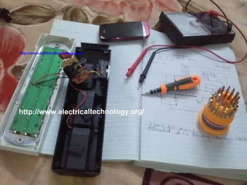 hight resolution of emergency led lights circuit led light project do it yourself project