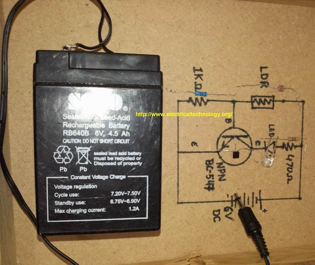 submersible pump starter wiring diagram battery level indicator circuit automatic street light control system using ldr & transistor bc 547